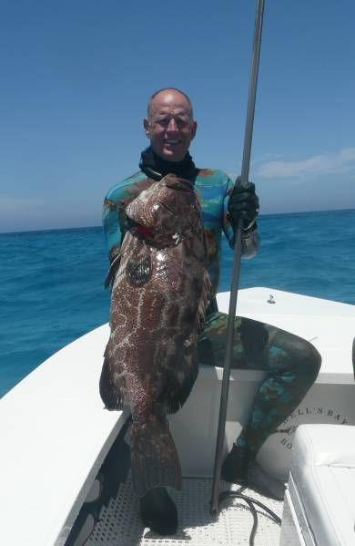 Bermuda Black grouper with Pole Spear - My Photo Gallery